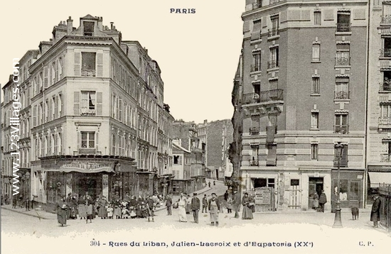 Carte postale de Paris 20ème arrondissement